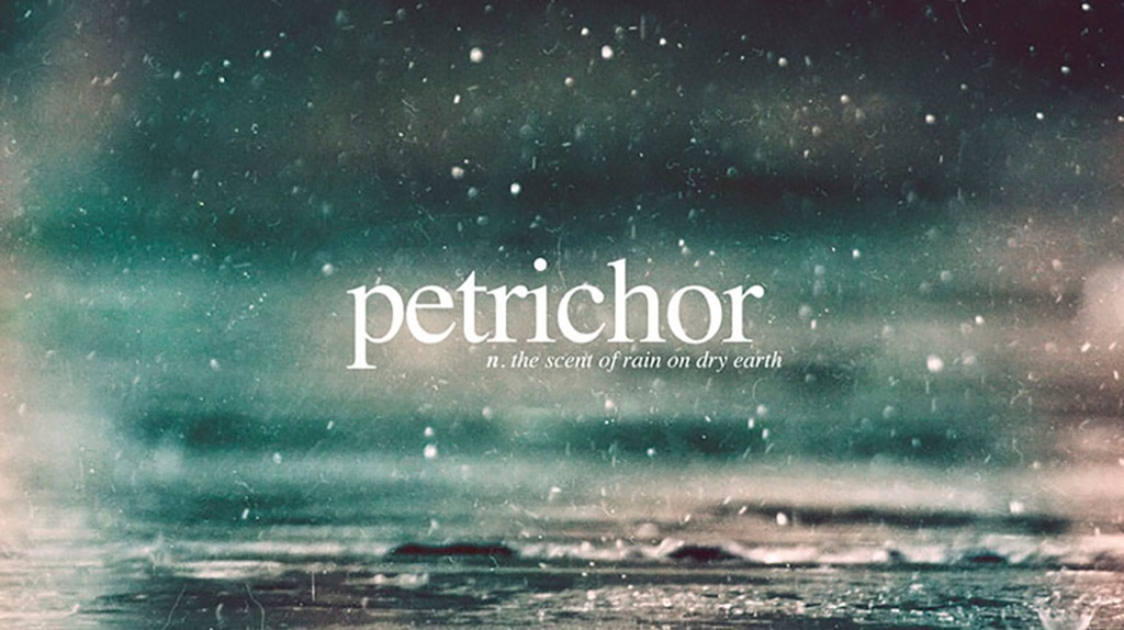 Petrichor - the scent or rain on dry earth